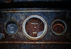 68,385 (jtr27) Tags: dsc08929 jtr27 sony alpha nex5n nex emount mirrorless ilc ilce csc sigma 30mm f28 exdn old junk antique classic mack truck dashboard dial gauge junkyard maine rust oxidation corrosion decay newengland