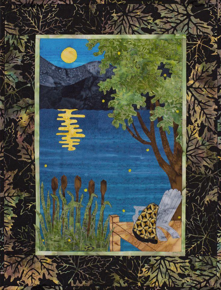 "Sue Pritt's original quilt pattern ""Summer Moon"" at Sweet Season Quilts"