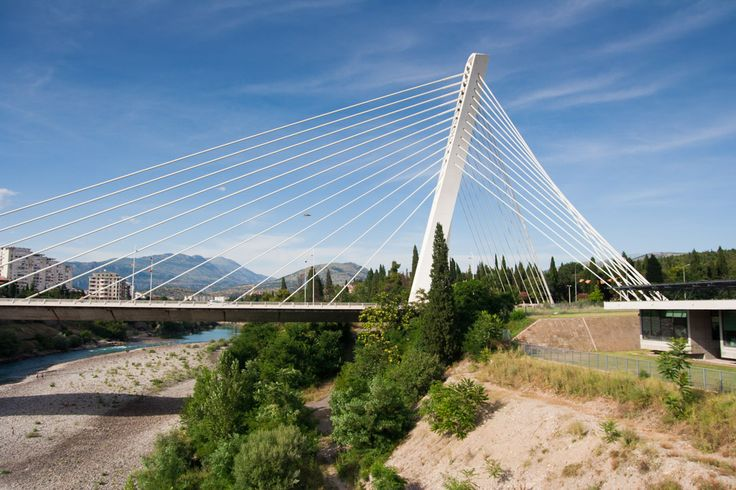 Millennium Bridge in Podgorica   Most tisíciletí v Podgorici