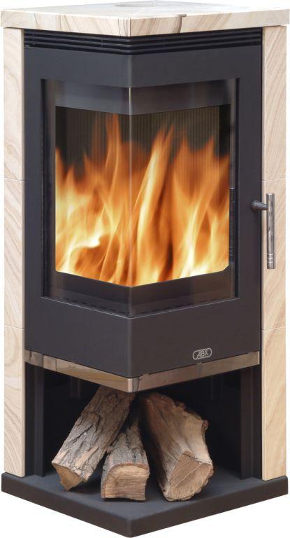 Admiral sandstone stove - 7kw corner wood burner