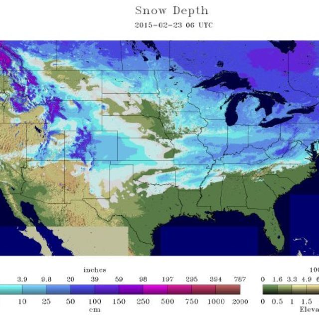 According to three separate national snow cover maps, snow is on the ground in at least 48 of 50 U.S. states.