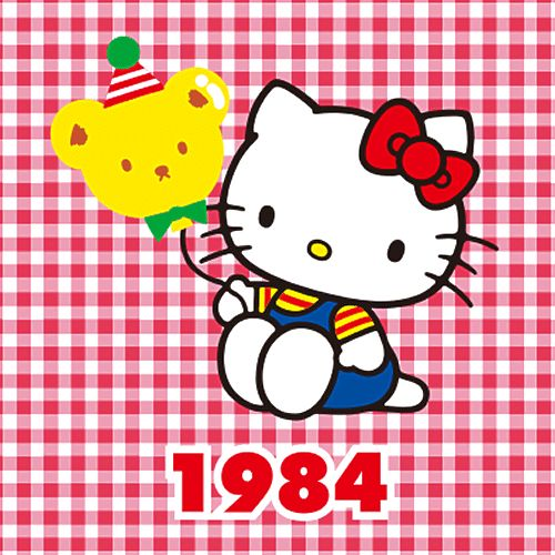 Hello kitty through the years 1984