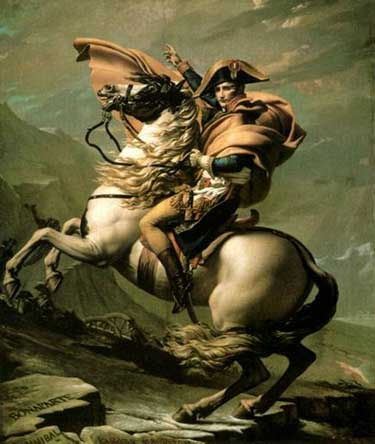 Jacques-Louis David – Napoleon Crossing the Saint-Bernard 1800-01