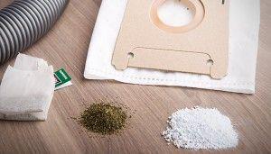 Haushaltstipp Staubsauger Beutel stinkt Pfefferminztee Waschpulver hilft