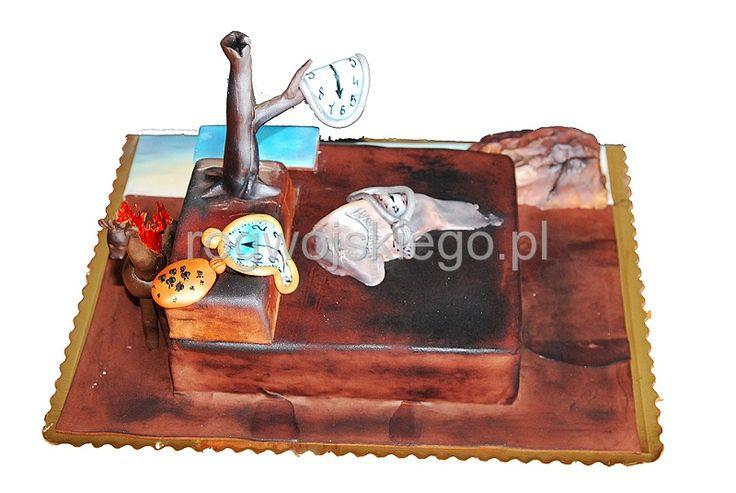 Tort Salvador Dali, salvador dali cake, art cake, torty artystyczne gdańsk, nietypowe torty