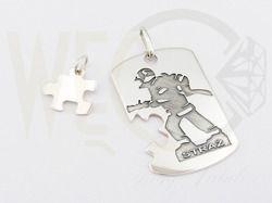 Srebrny wisiorek z wybranym zawodem / Silver pendant with a chosen profession / 322 PLN / #jewellery #silver #pendant #gift #giftidea