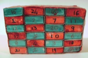 advent chest craft for kids