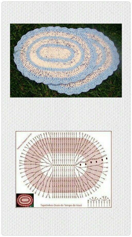 Alfombra crochet xxl