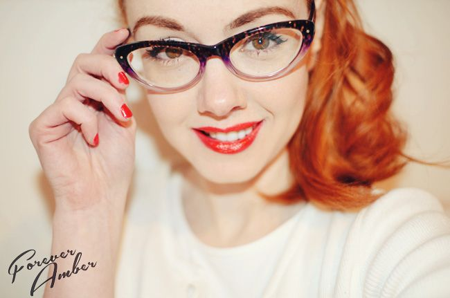 best cat eye glasses for round face - Google Search