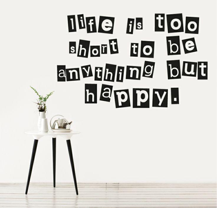 Be happy for Vinilos decorativos textos