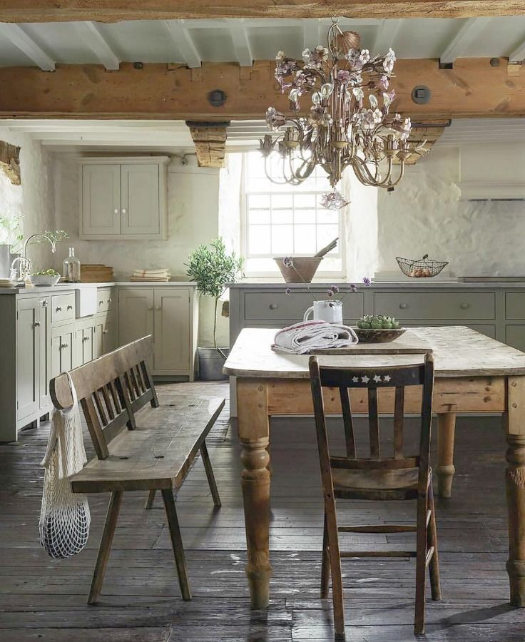 21 Beautifully Rustic English Country Kitchen Design Details To