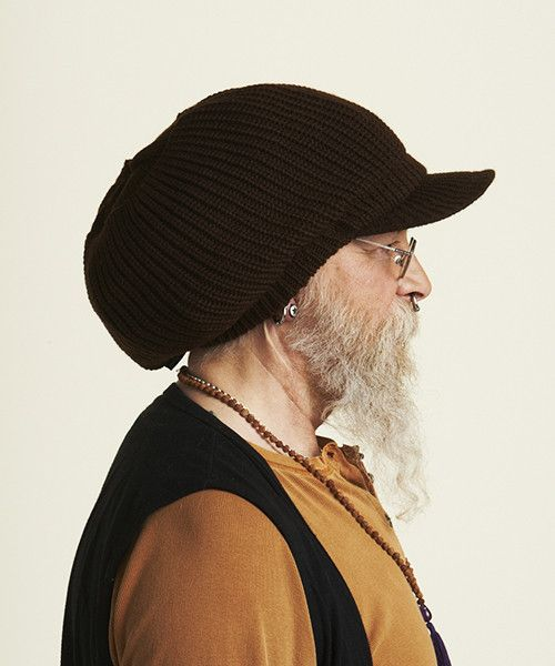 Brown knitted cap