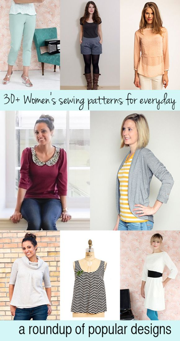 Popular women's sewing patterns by independent designers- GREAT list!