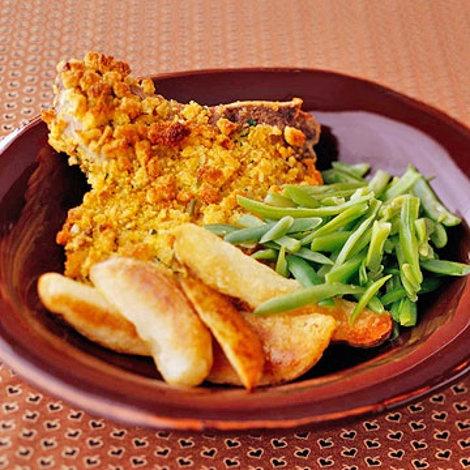 Oven-Fried Pork Chops Recipe | Food Recipes - Yahoo! Shine