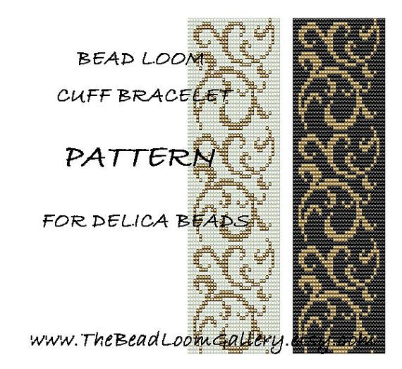 Bead Loom Cuff Bracelet Pattern Vol.25 PDF by thebeadloomgallery