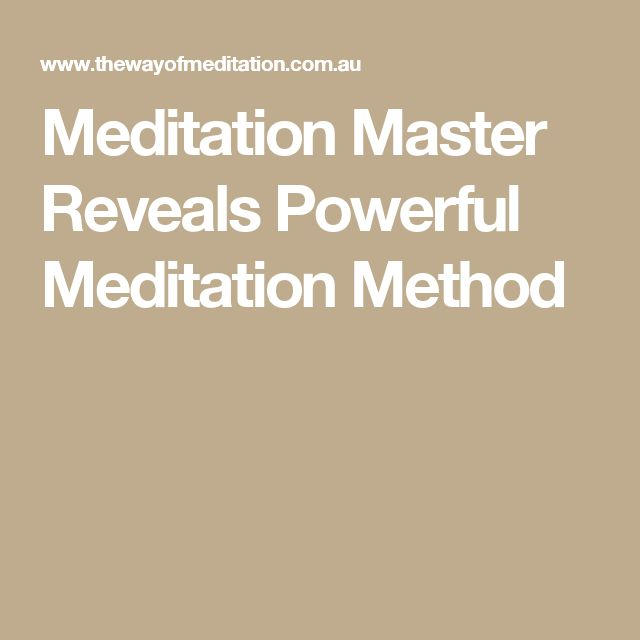 Meditation Master Reveals Powerful Meditation Method