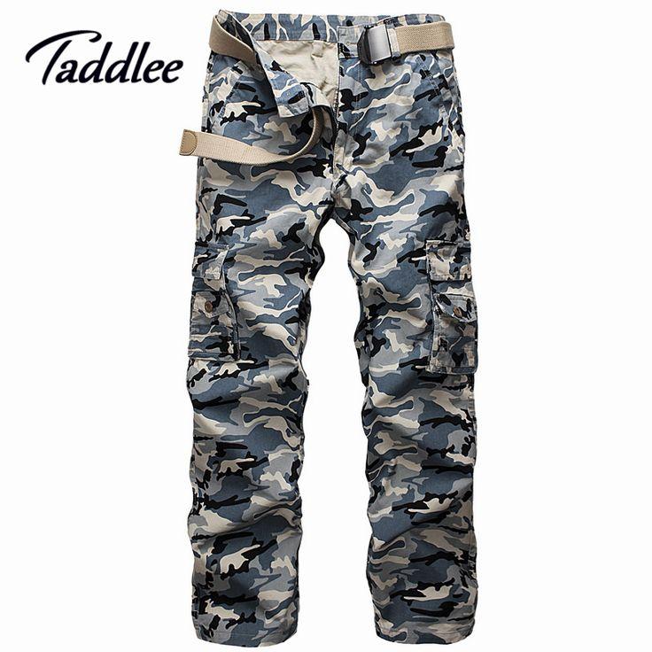 Мужские камуфляжные штаны slim fit длинные Полная Длина Военная рабочие брюки мужчины брюки-Карго Хаки Армия Мульти-Карманы брюки случайные
