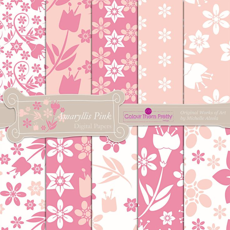 Amaryllis Pink {Digital Papers - Standard License}