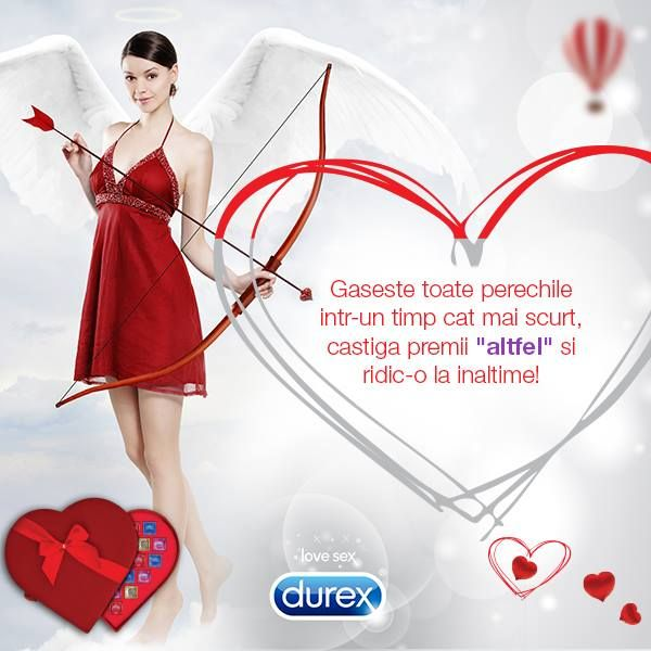 http://bit.ly/DeCeSaNuDaruiestiCevaDiferit  Cu Durex, ii poti oferi cadoul potrivit femeii iubite! Joaca-te, gaseste perechiile si (s)experimenteaza dragostea la inaltime!