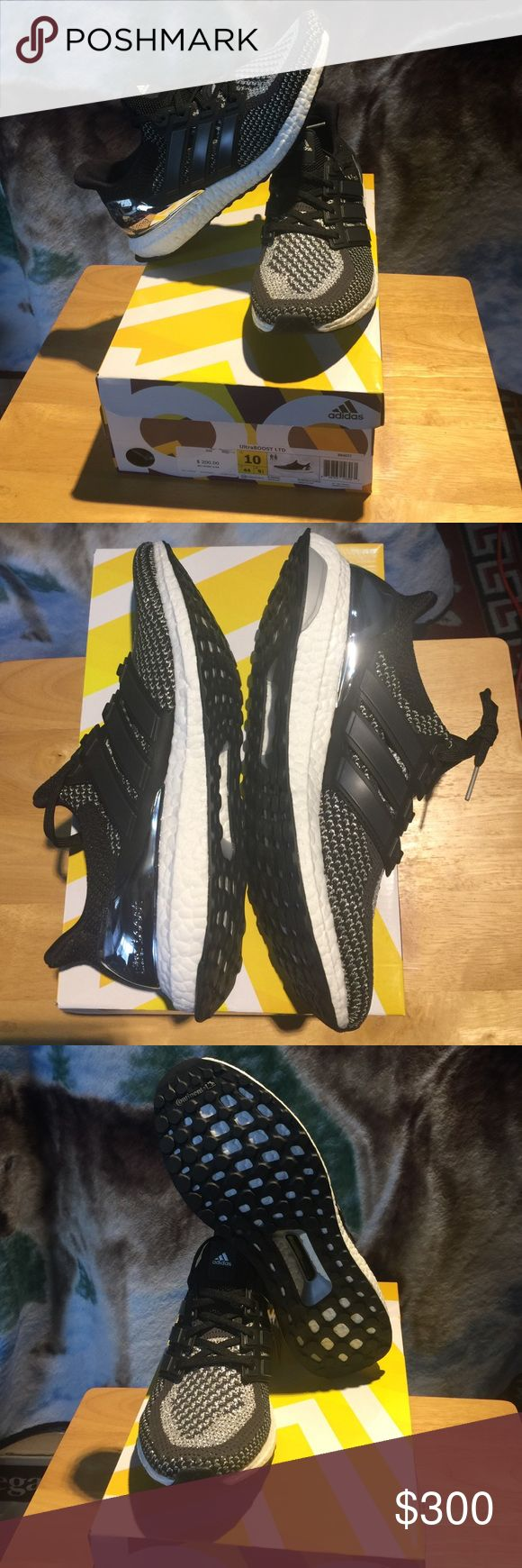 Adidas Ultra Boost Silver Medal Limited Edition Brand new Adidas Ultra Boost Silver Medal Limited Edition BB4077 Black Silver Size 10 Adidas Shoes Sneakers