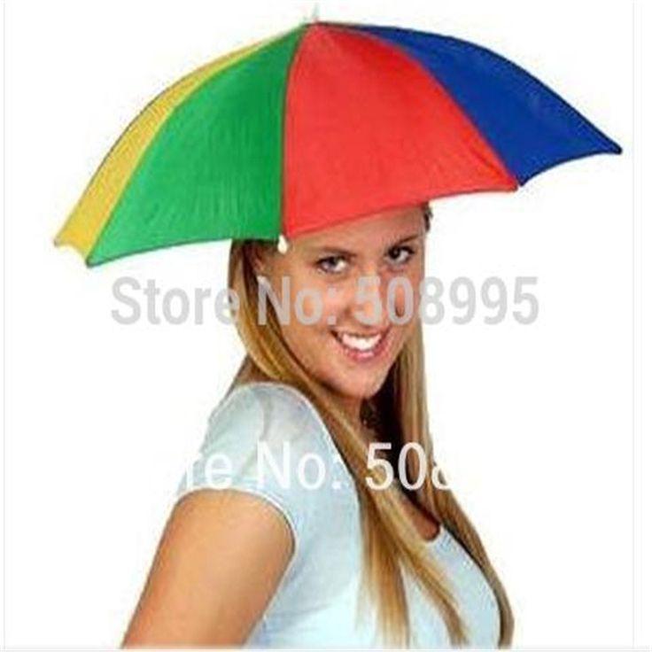 1p Convenient Multifunction Silver Coating Fishing Umbrella Head Hat Umbrella fishing hat Anti-UV Rain Umbrellas #Affiliate