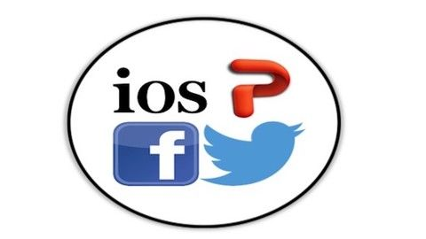 Self Advertise Using PowerPoint Twitter and Facebook on ios