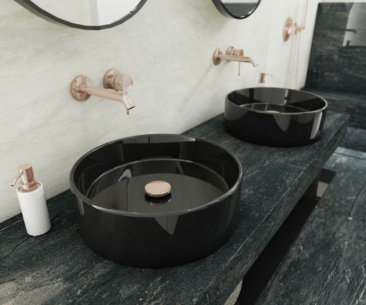 Luxusní koupelna SUNSET ELEGANCE | Luxury bathroom SUNSET ELEGANCE #bathroom #koupelna #bathroomdesign #interiordesign #bathroomdecor #luxurybathroom #shower #sprcha #GROHE #WarmSunset #ceramic #antracit #white #bila #rosegold #perfectodesign