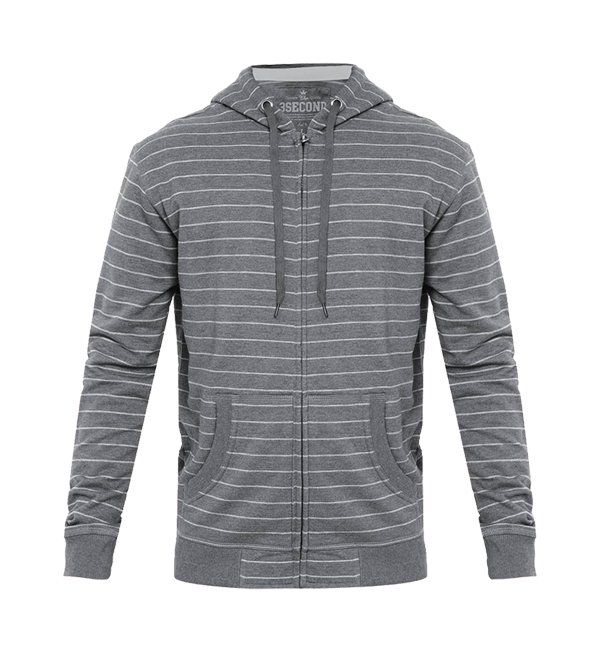 Hoodie Stripe  by 3SECOND. Stripes cotton hoodie with light gray stripes pattern, long sleeve, stripe hoodie is the best companion for your day, stay cool in cold weather, pair it with plain t-shirt, jeans and sneakers for casual style.%0A%0A http://www.zocko.com/z/JG0jc