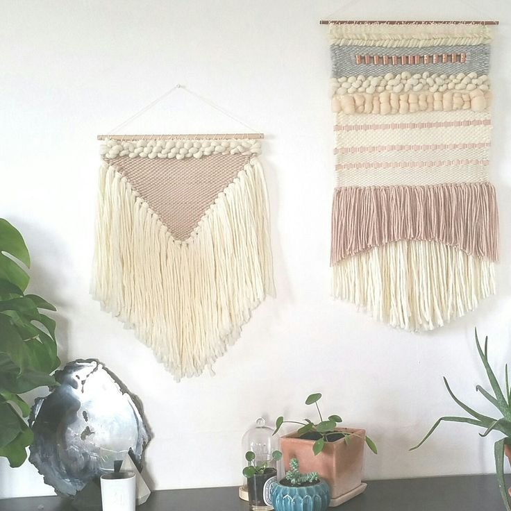 New nude and cream weaving, extra soft peruvian yarn. Ready to ship and to hang in your hygge house ☕ .