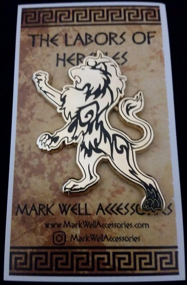 Labors of Hercules - The Nemean Lion Golden Pin