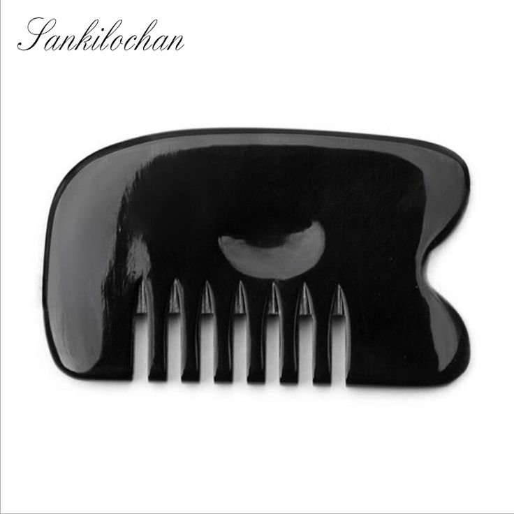 Large Natural Buffalo horn SPA Scraping Plate Body Massager Chinese Traditional Acupuncture Massage GuaSha Board Scrape Therapy #Affiliate