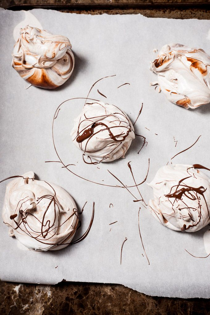 chocOlate salted caramel pavlovas