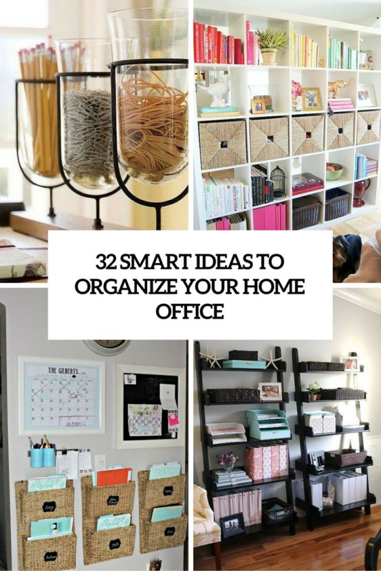 Best 25 home office organization ideas on pinterest creative home office storage and office - Organize small space property ...