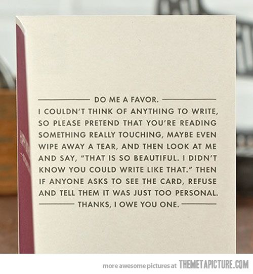 I need to write this in a card someday.