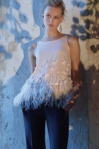 I am all over this glamorous Feathered Fringe Blouse #anthroregistry  want!   anthropologie.com