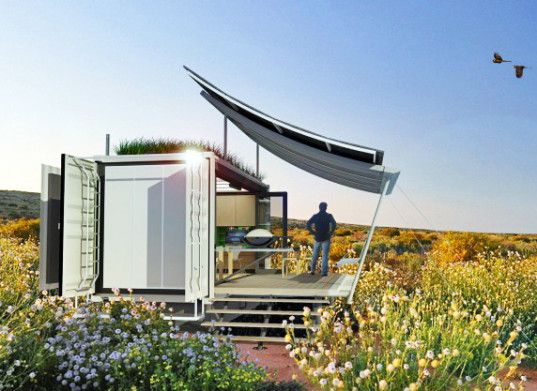 This G-pod container home can go anywhere and expand three times its size when you need more space. http://inhabitat.com/g-pods-tiny-dwell-container-home-expands-to-nearly-three-times-its-size/