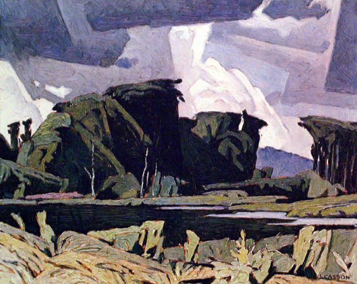 """Alfred Joseph Casson - Canadian / Group of Seven (1898 - 1992) """"Bancroft"""""""
