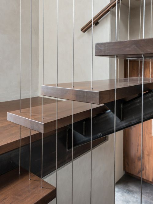 sleek modern stair stone tread - Google Search