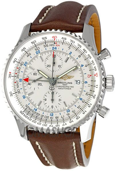 Breitling Navitimer World White Dial Mens Watch A2432212-G571BRLD
