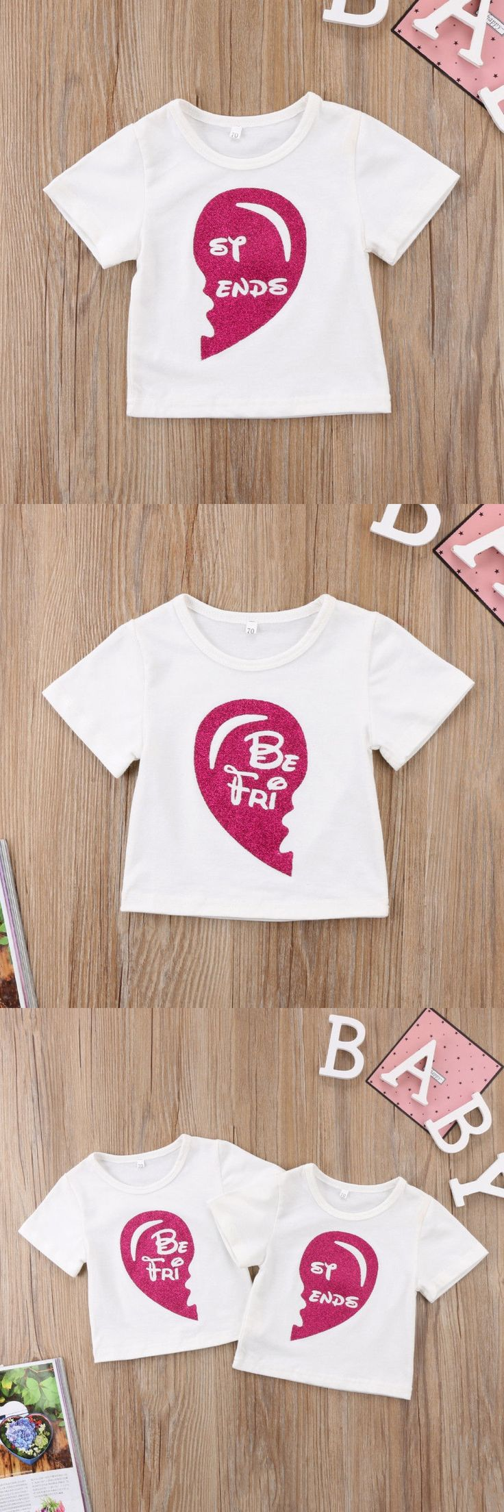 Good Formal Letter%0A Family Matching Toddler Kids Baby Girls Sister Best Friend Letter Printed  Short Sleeve Top T