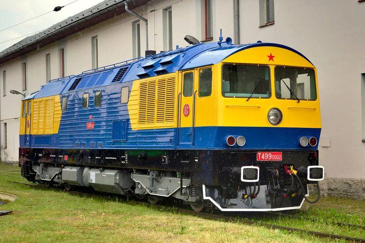 CKD diesel electric locomotive at Vrútky in Slovakia