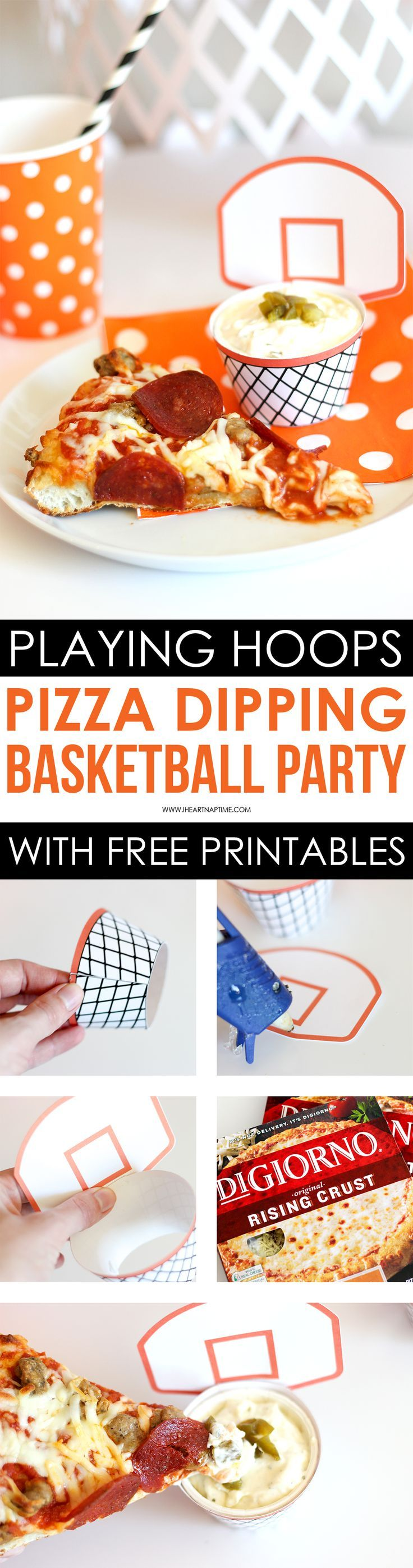 Easy Basketball Pizza Party - Having DIGIORNO pizza for a party is so convenient because it's fast and easy! Check out these tips for throwing a fun Basketball Pizza Party!