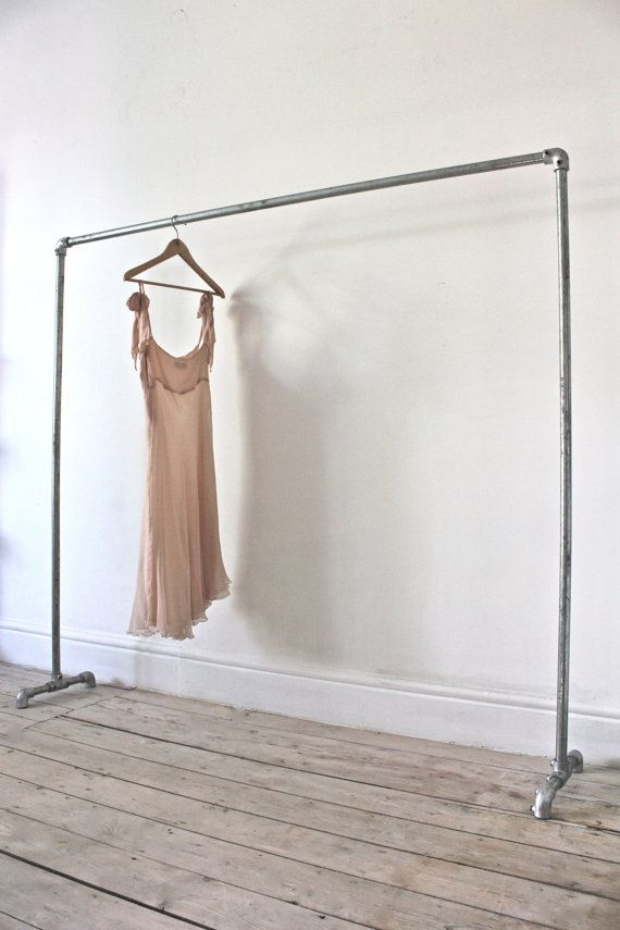 Galvanised Steel Pipe Simple Elegant Freestanding By Inspiritdeco Made With Kee Klamp Ings Clothing Racks Diy Pipes Clothes Rail