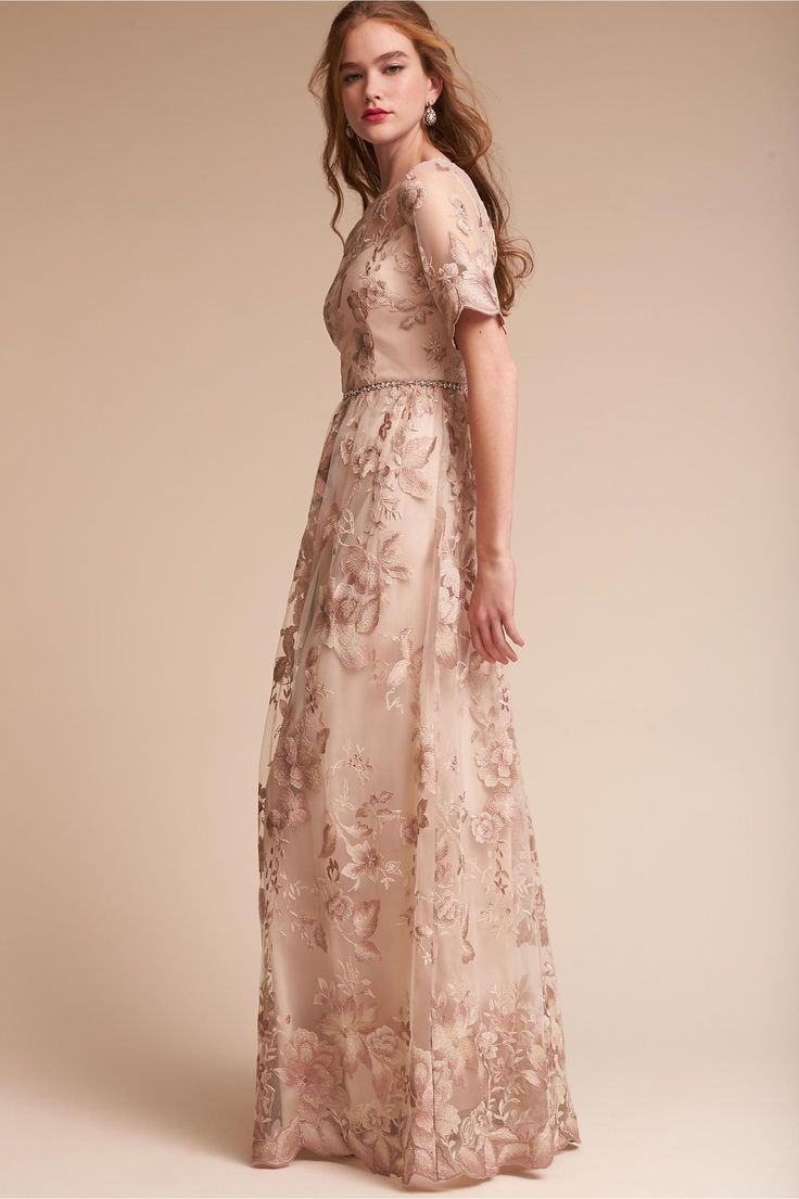 BHLDN's Adrianna Papell Guilia Dress in Rose Quartz