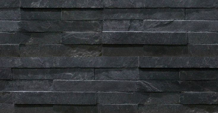 Black Slate Split Face Mosaic Tiles 600x150 - Slate Cladding - Stone Cladding by Rock Panels www.rockpanels.co.uk