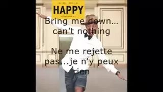 Pharell Williams Happy paroles et traduction - YouTube
