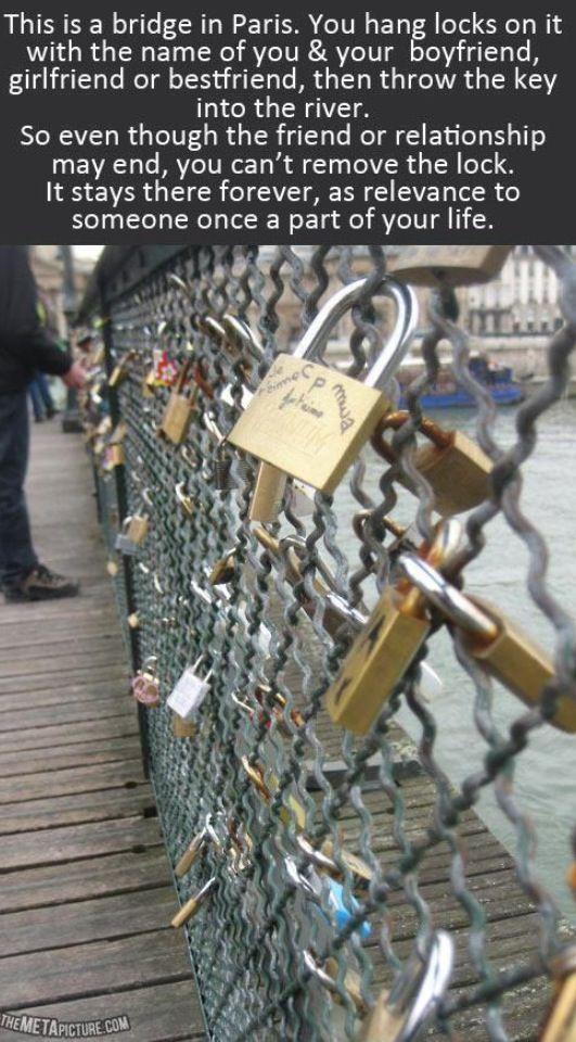 Bucket List: Must visit the lock bridge in Paris, France <3
