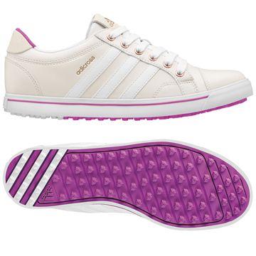 White/Flash Pink Adidas Ladies Adicross IV Golf Shoes  at lorisgolfshoppe