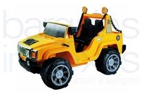 12V Hummer Styled Ride On Car - Yellow