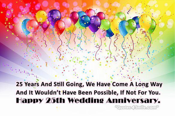 25th Wedding Anniversary Wishes Anniversary Happy